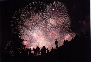 松江市水郷祭の花火大会