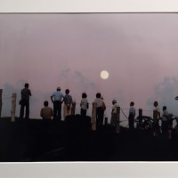 田和山山頂の月